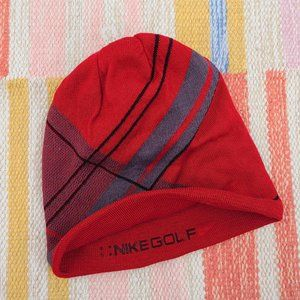 Nike Gold Red Beanie Hat